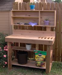 ultimate potting bench with shelf
