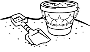bucket filling coloring pages fill beach bucket with sand colouring page fill beach bucket with