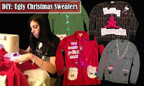 diy ugly christmas sweaters hello perfect
