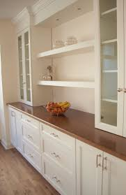 chic built in kitchen buffet features double door kitchen cabinets cool brown color wooden furniture nice design ideas of built in kitchen buffets