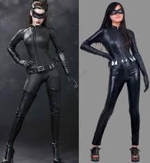 Catwomen Halloween Costume Superhero Catwoman Close Fit Costume Halloween Catwoman