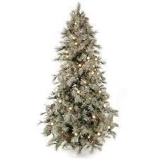 prelit christmas tree 7 5 foot iced aspen layered prelit christmas tree free shipping