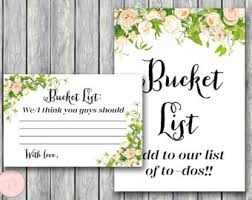 wedding wishes list marriage list etsy