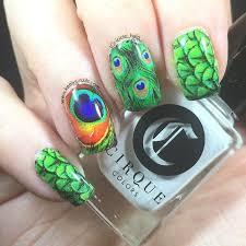 peacock feather keely u0027s nails