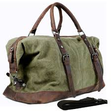 travel bags for men images Vintage military canvas leather men travel bags carry on luggage jpg