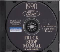 1990 ford truck and van repair shop manual econoline f150 f250
