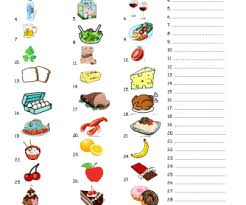 921 free food and drinks worksheets