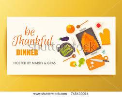 flat design menu thanksgiving dinner typical stock vector