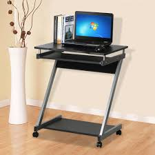 corner computer desk small spaces on castors pc table bedroom home