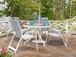 Round Patio Table Cover With Umbrella Hole by Telescope Casual Glass Top 43 X 75 Oval Dining Table With Umbrella