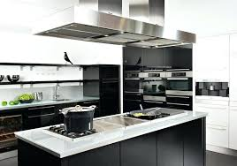 decoration cuisine noir et blanc modele cuisine blanc laquac modele cuisine noir et blanc 2 photo