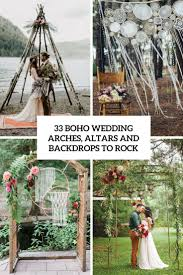 wedding backdrop altar 33 boho wedding arches altars and backdrops to rock weddingomania
