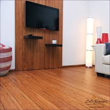Kitchen Flooring Reviews Kitchen With Solid Bamboo Flooring In Walnut Color Bamboo Wood
