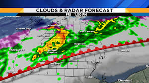 Weather Fronts Map Metro Detroit Weather Latest On Friday U0027s Severe Threat