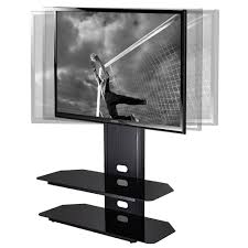 tv mount with shelves fitueyes tv stand with swivel mount for 42 50 55 60 65 70 inch tvs