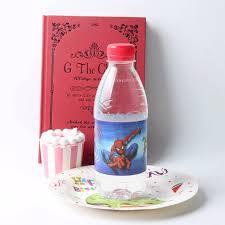 Decorate Water Bottle 12pcs Lot Spiderman Bottle Label Beauty Beast Baby Shower Water