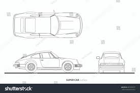car drawing vehicle car drawing outline vector plan stock vector 687258727