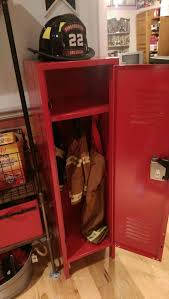 Kids Locker Appropriately Holds The Turnout Gear For Any Little - Firefighter kids room