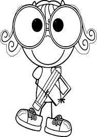 english teacher pen student coloring page wecoloringpage