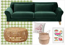 canapé vert variations déco autour d un canapé vert foncé joli place