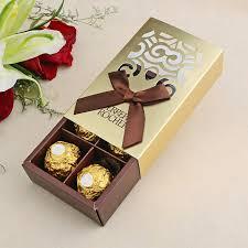 chocolat mariage 100 pcs faveurs de mariage or couleur chocolat emballage 6 trou