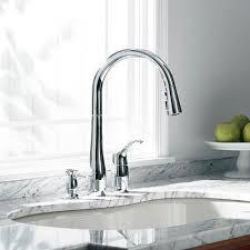 kohler simplice kitchen faucet kohler k 647 cp simplice polished chrome pullout spray kitchen