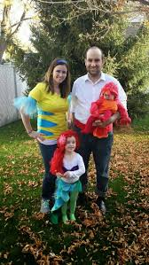 Ariel Mermaid Halloween Costume Mermaid Family Halloween Costume Halloween