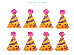 girls u0027 parties shopkins shopkins party hat printable