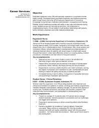 nursing student resume objective sle resume for nursing corol lyfeline co student objective exles rn