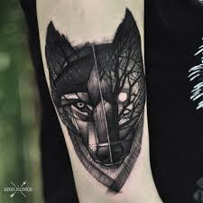 50 geometric and blackwork wolf tattoos tattoodo