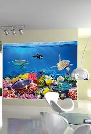 Wall Mural Wallpaper Nature Forest Tree Light Show Photo Amazon Com Undersea Coral Reef Photo Wall Paper Aquarium Fish