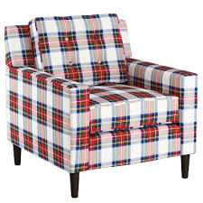 plaid accent chair target