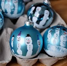 snowman handprint baubles red ted art u0027s blog