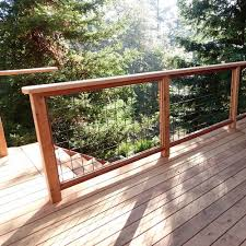 Decking Banister Wild Hog Railing Refined With Your View In Mind