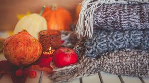 fall decorations make your home cozy with dark colors textured