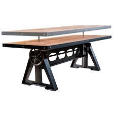 Table Acier Bois Industriel by Table Design Industriel En Bois En Acier Rectangulaire Sl