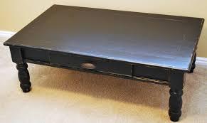furniture chic black distressed coffee table design ideas