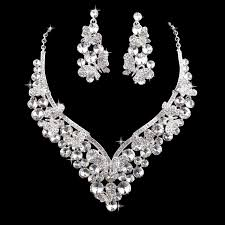 silver bridal necklace images 18k gold plated pink crystal indian style butterfly wedding jpg