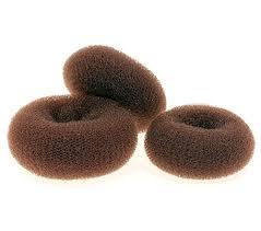 chignon maker ajoy 3 pieces bun maker donut for hair brown 3 sizes small