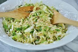 napa salad napa cabbage salad with toasted almonds veganosity