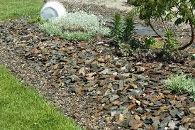 low maintenance landscaping blueslate woodstone
