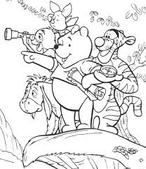 winnie the pooh and friends coloring pages kids coloring