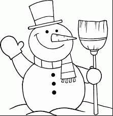 astonishing black white snowman coloring pages frosty