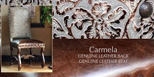 Genuine Leather Dining Room Chairs by Dining Chairs Spanish Colonial Hacienda Style Dining Chairs Tuscan