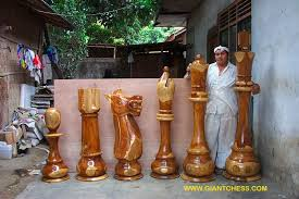 large wooden pieces the largest and most wooden chess set in the world äî