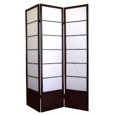 Portable Room Divider 5 83 Ft Espresso 3 Panel Room Divider R5419 The Home Depot