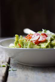 caprese pasta salad with asparagus pesto the gourmet rd
