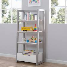 Natural Oak Leaning Shelves With Furniture 5 Tier Leaning Bookshelf Oak Ladder Shelf Unit Buy