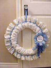 Welcome Baby Home Decorations Craft Baby Shower Diaper Wreath Diaper Wreath Tutorial Diaper
