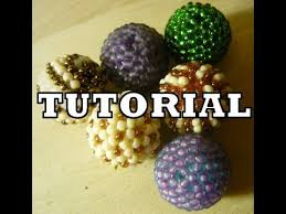 beaded balls kulki koralikowe tutorial
